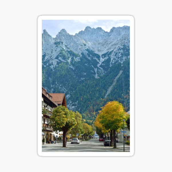Autumn in Mittenwald - Germany Sticker