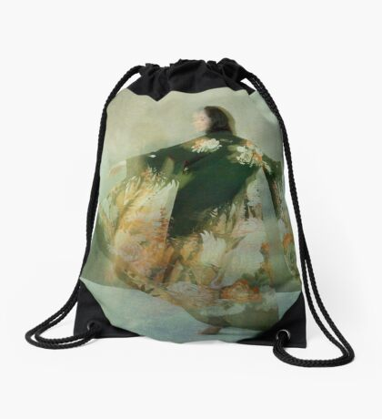 Go for the moon. If you don't get it, you'll still be heading for a star. Drawstring Bag