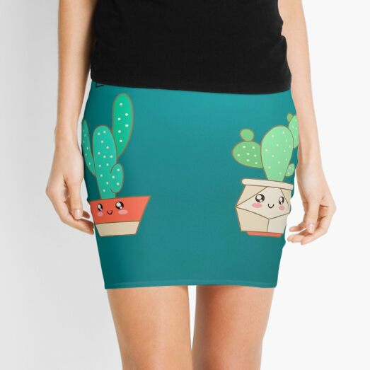 Cute Cactus Pun Mini Skirt