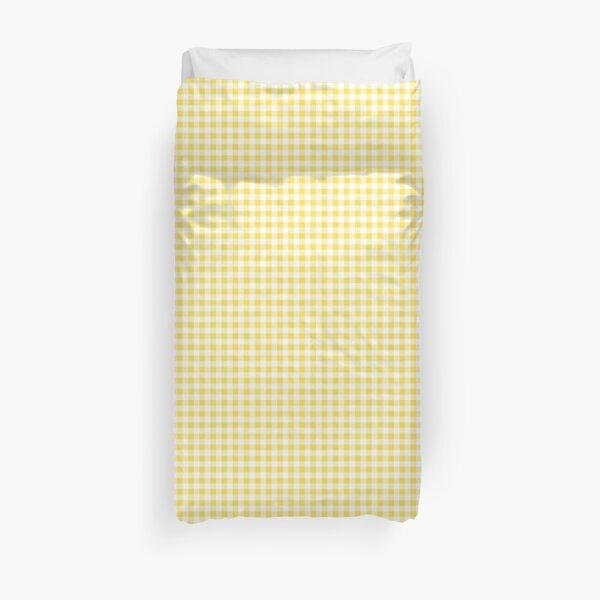 Mustard Yellow + White Plaid Duvet Cover