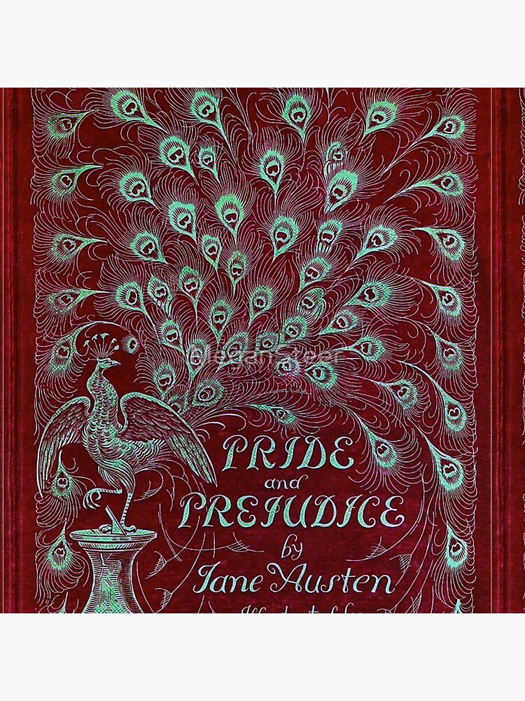 Pride and Prejudice, 1894 Peacock Cover in Red by MeganSteer