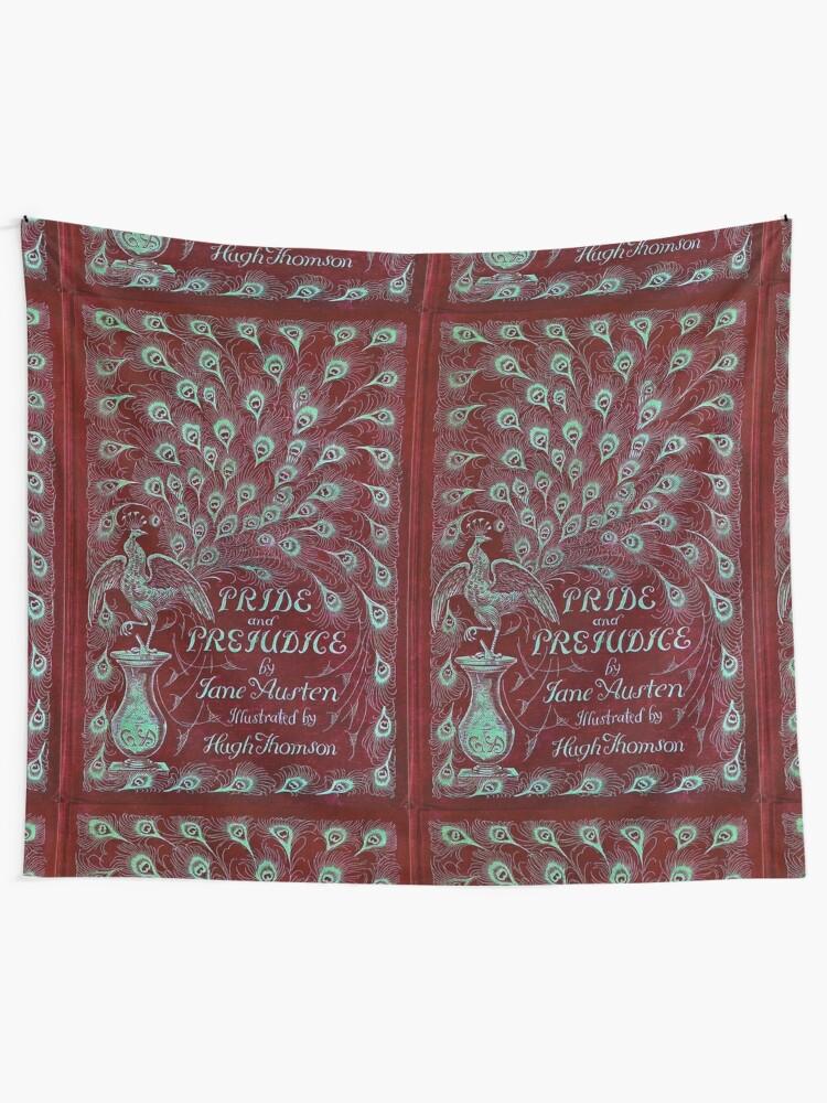 Alternate view of Pride and Prejudice, 1894 Peacock Cover in Red Tapestry