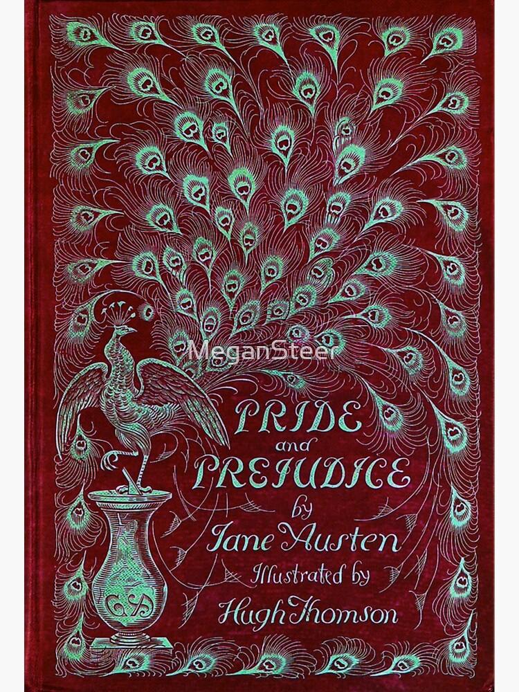 Pride and Prejudice, 1894 Peacock Cover in Red by MeganSteer
