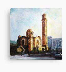 Golden Church  Canvas Print