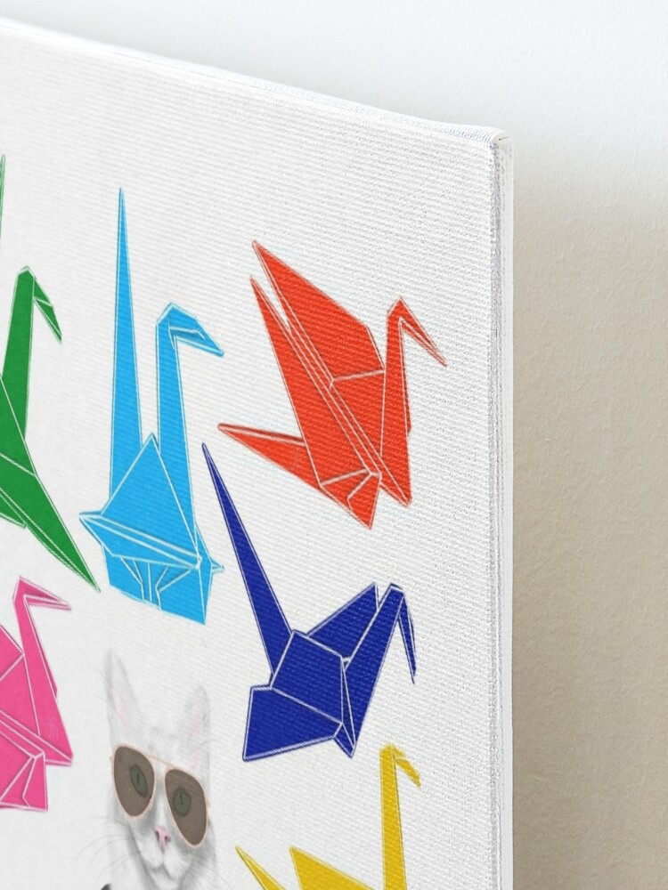 Alternate view of Boss Babe Origami Birds Mounted Print