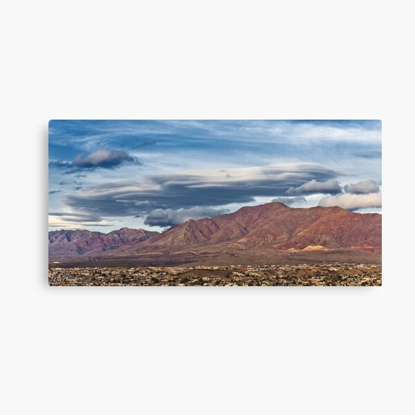 Lenticular Cloud over the Franklin Mountains Canvas Print