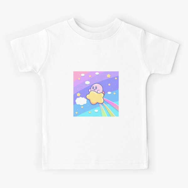 Kirby Flying UP the SKY Kids T-Shirt