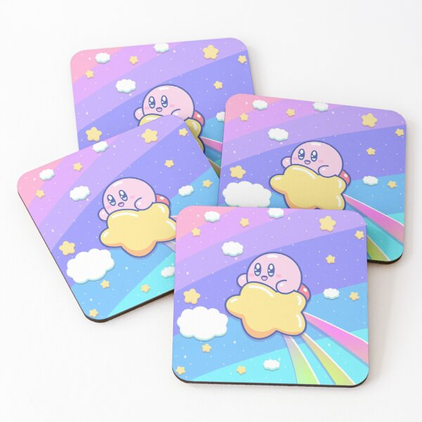 Kirby Flying UP the SKY Coasters (Set of 4)