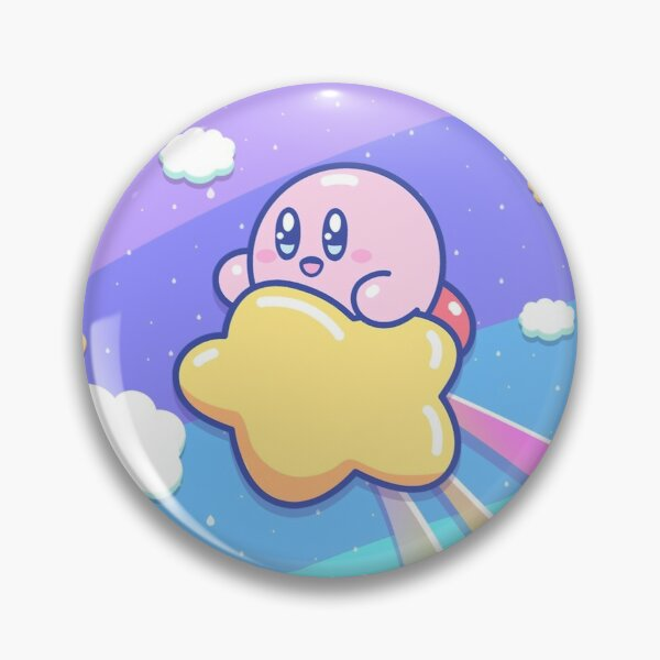 Kirby Flying UP the SKY Pin