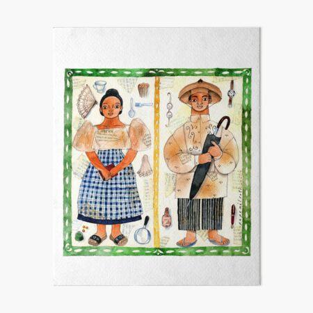 Filipino and Filipina illustrated by Robert Alejandro Art Board Print