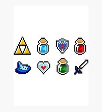 Zelda Items Photographic Print