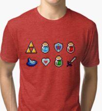 Zelda Items Tri-blend T-Shirt