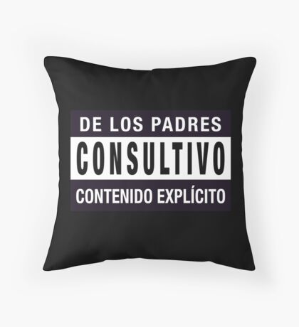 Mind your language - Spanish Throw Pillow