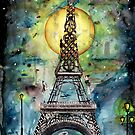 Paris... only light destroys darkness by Jenny Wood