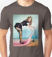 French Maid Pinup Girl  Unisex T-Shirt