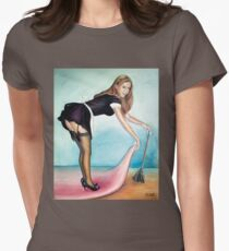 French Maid Pinup Girl  Women's Fitted T-Shirt