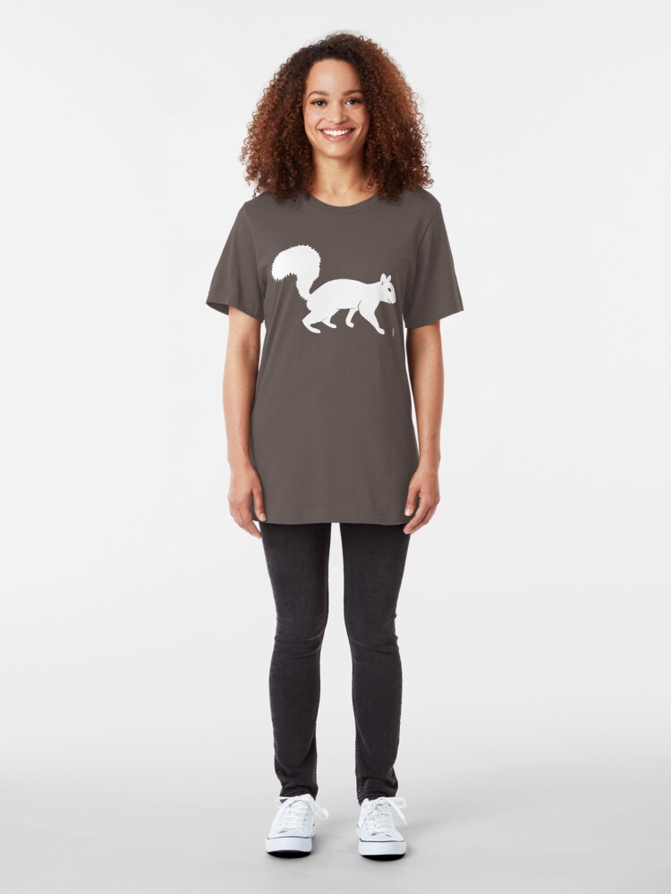 Alternate view of White Squirrel Slim Fit T-Shirt