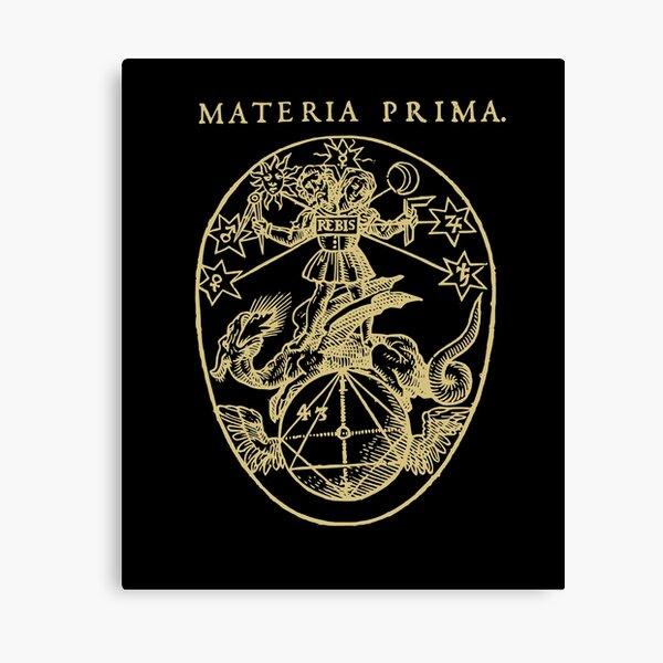 Materia Prima Medieval Alchemy Occult  Canvas Print