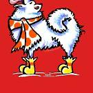 Samoyed / American Eskimo Dog Snowflake Magic by offleashart