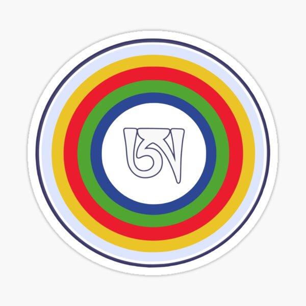 Dzogchen Symbol Tibetan Letter A Buddha Meditation Mandala  Sticker