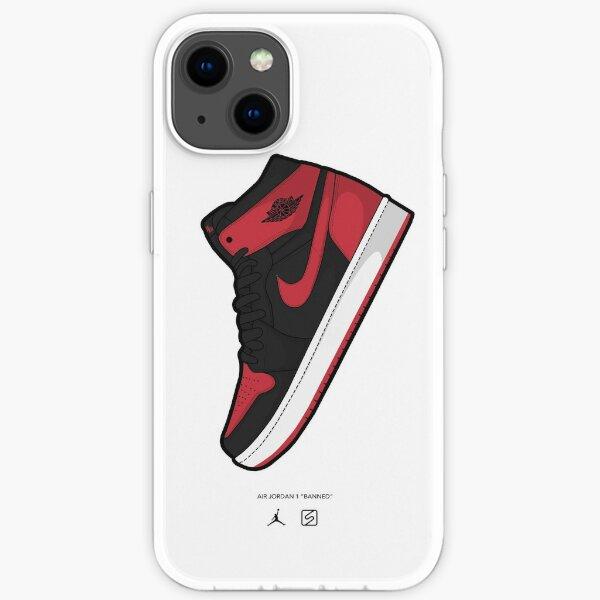 Jordan 1 prohibido Funda blanda para iPhone