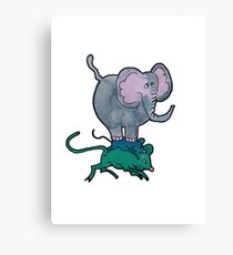 Ganesha's Double Ride Canvas Print