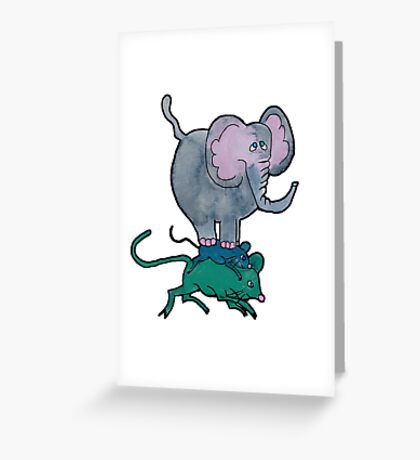Ganesha's Double Ride Greeting Card