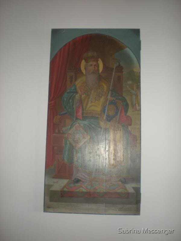 Icon of St. Timothy of Proconoseuss by Sabrina Messenger