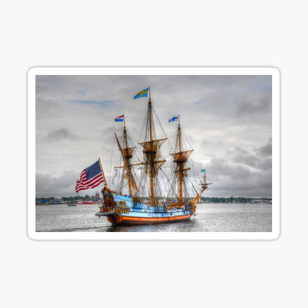 Kalmar Nyckel___The Tall Ship of Delaware Sticker