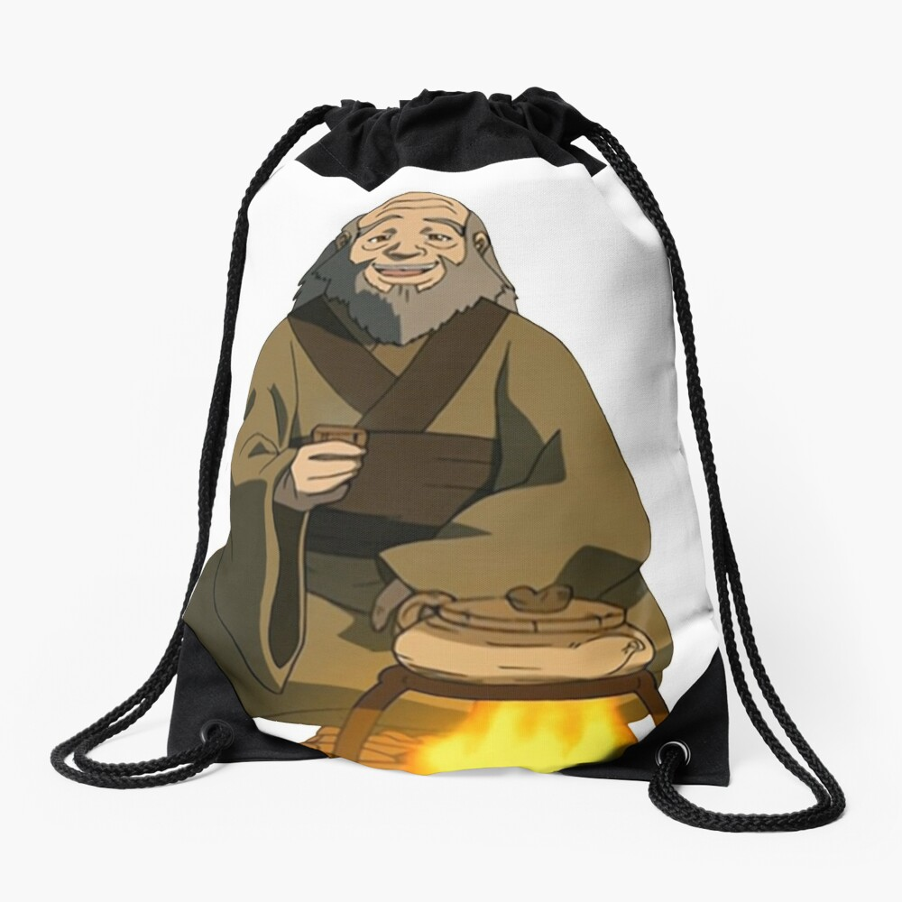 Uncle Iroh Sitting For Tea Avatar Drawstring Bag