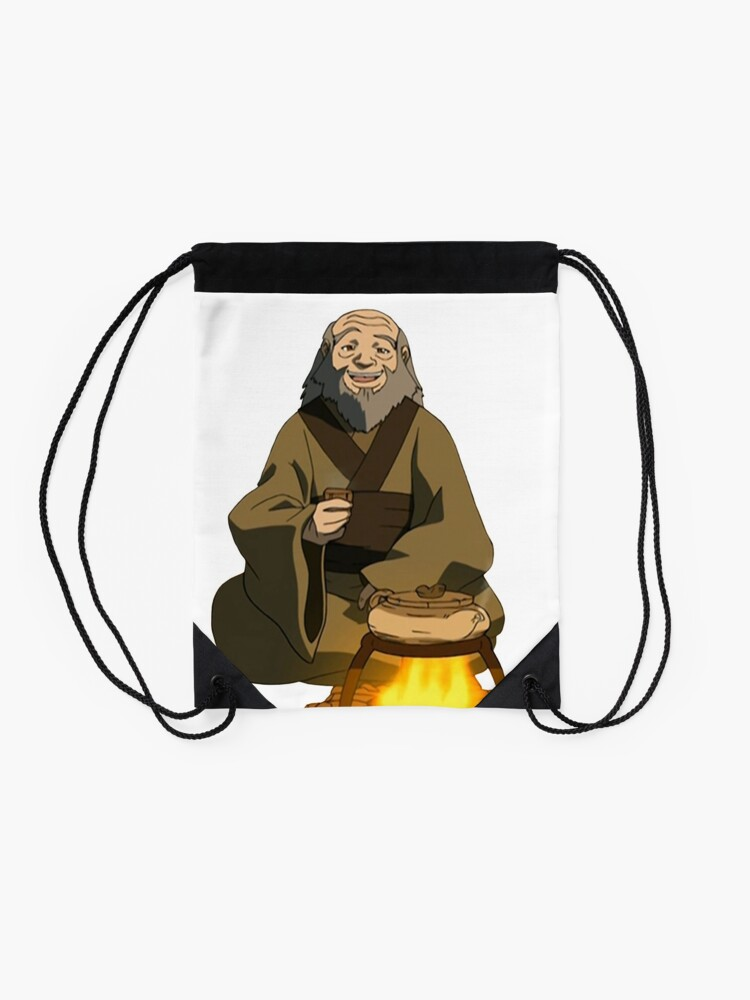 Alternate view of Uncle Iroh Sitting For Tea Avatar Drawstring Bag