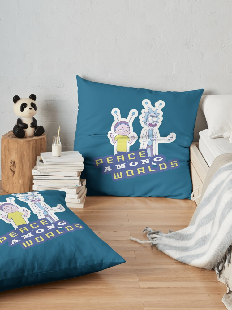 Alternate view of  Peace Among Worlds  Floor Pillow