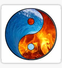Ying Yang - Water and Fire Sticker