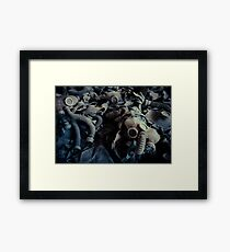 Attended by Shadows Framed Print