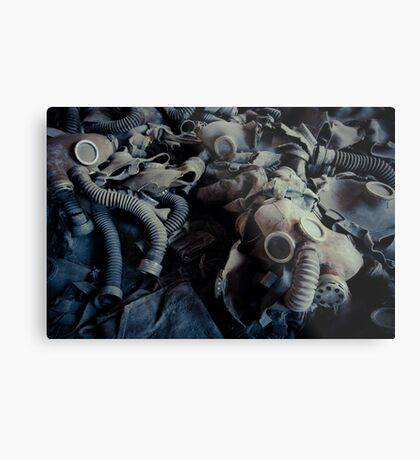 Attended by Shadows Metal Print
