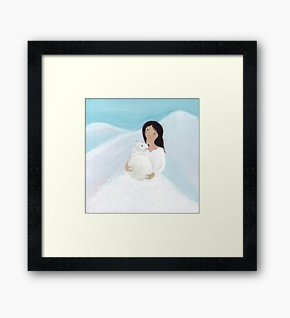 You and me, baby bear Framed Print