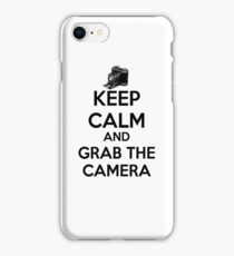 KEEP CALM AND GRAB THE CAMERA. iPhone Case/Skin