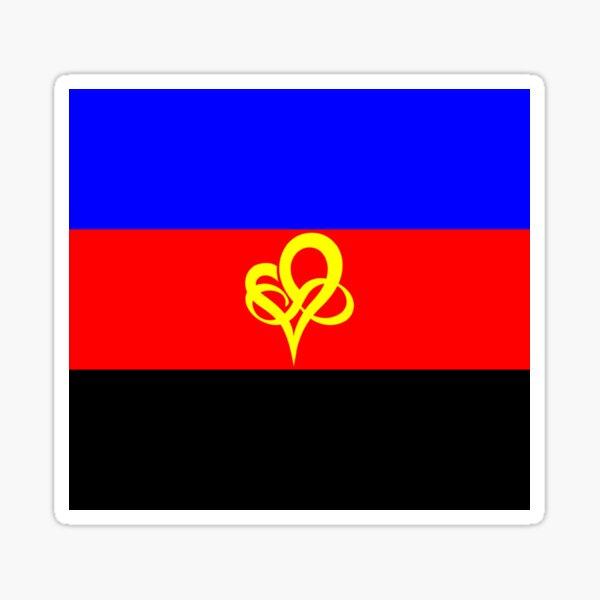 Infinity Heart Poly Pride Flag Polyfidelity Sticker