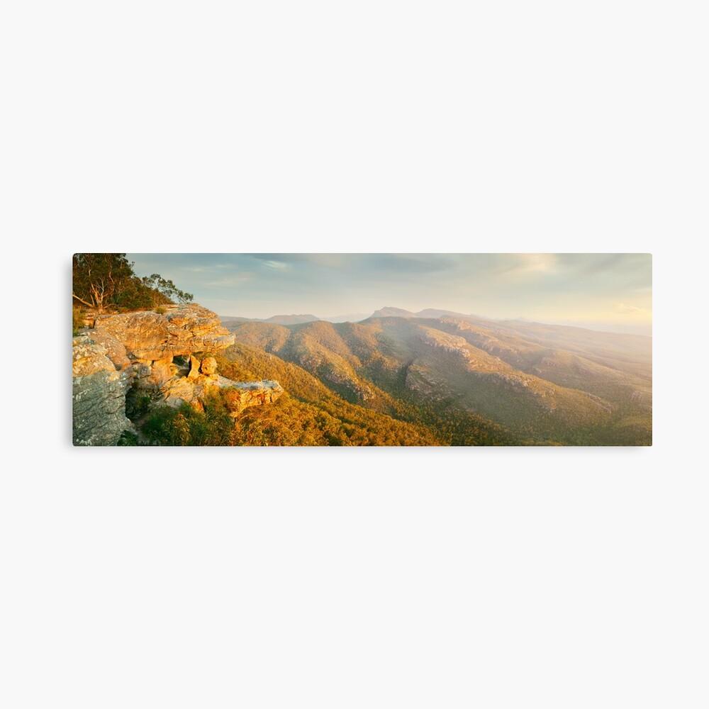 Balconies Sunset, Grampians National Park, Victoria, Australia Metal Print