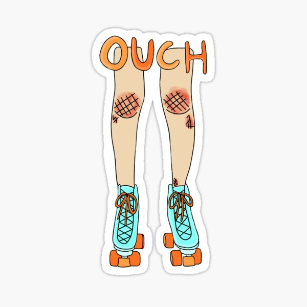 Ouch roller skate Sticker