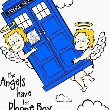 The Angels have the Phone Box - Version 2 (for light tees) by lemontee