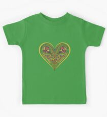 Celtic heart with birds and knotwork Kids Clothes