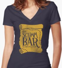 THE SCUMM BAR Women's Fitted V-Neck T-Shirt