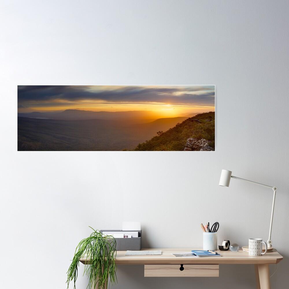 Reeds Lookout, Grampians National Park, Victoria, Australia Poster