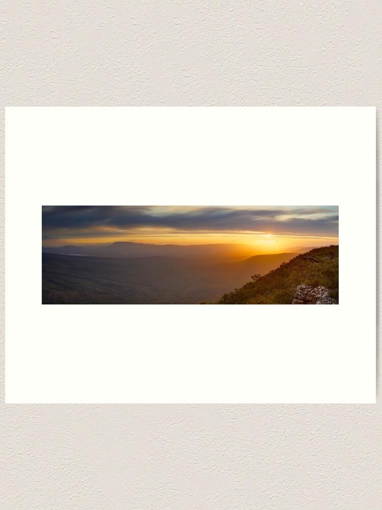 Alternate view of Reeds Lookout, Grampians National Park, Victoria, Australia Art Print