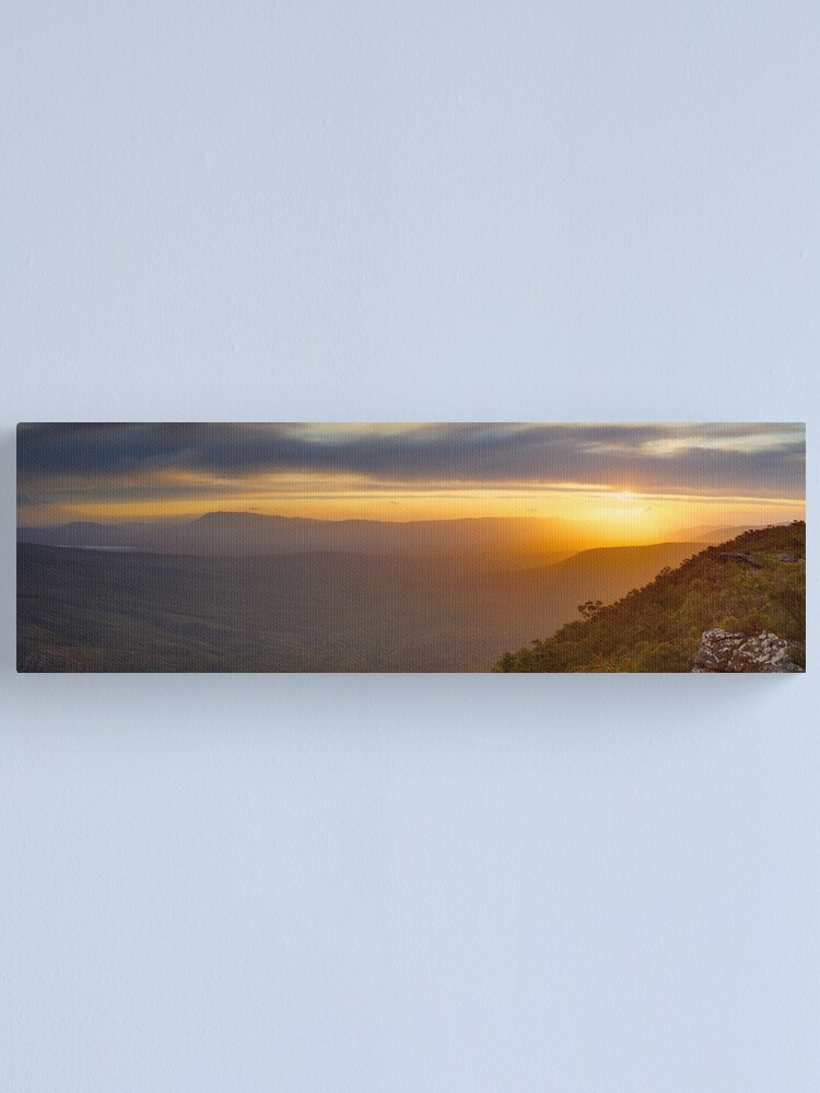 Alternate view of Reeds Lookout, Grampians National Park, Victoria, Australia Canvas Print