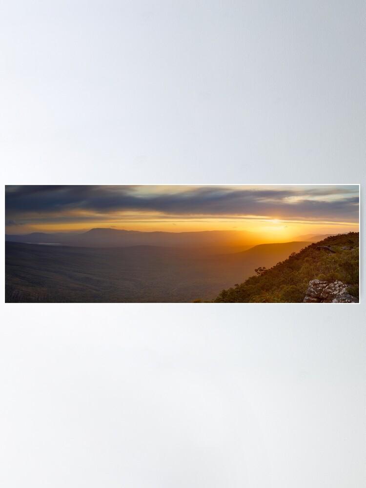 Alternate view of Reeds Lookout, Grampians National Park, Victoria, Australia Poster