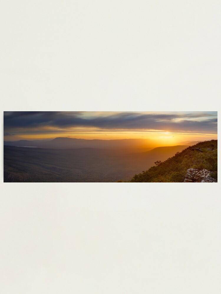 Alternate view of Reeds Lookout, Grampians National Park, Victoria, Australia Photographic Print