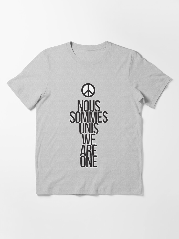 Alternate view of Nous Sommes Unis / We Are One Essential T-Shirt