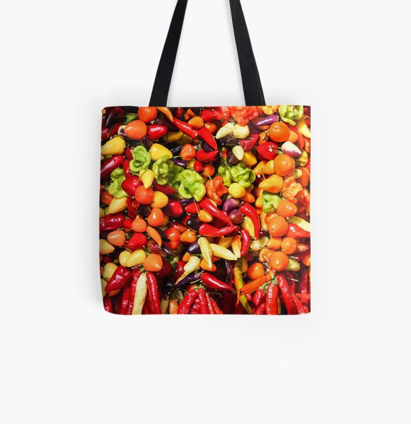 Chilli peppers All Over Print Tote Bag